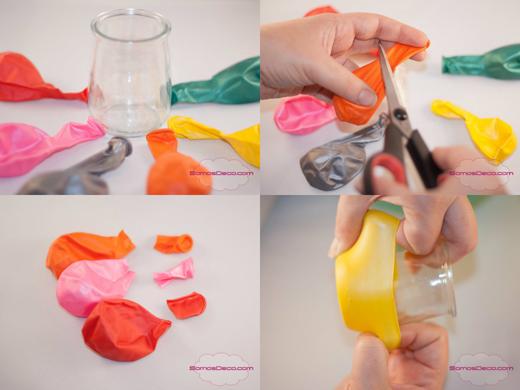 x ideas para decorar fiesta con minions como hacer portavelas