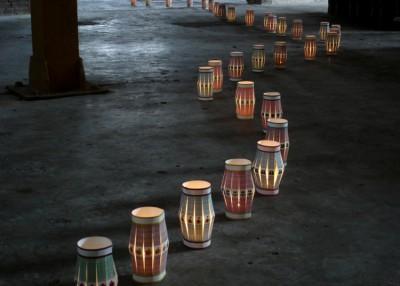 Lamparinas recicladas para festa junina