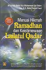 toko buku rahma: buku menuai hikmah ramadhan dan keistimewaan laitul qadar, pengarang drs. k.h. abdul rasyid fauzi, penerbit pustaka setia
