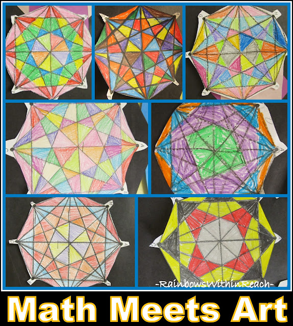photo of: Math Meets Art Bulletin Board (from Bulletin Board RoundUP via RainbowsWithinReach)