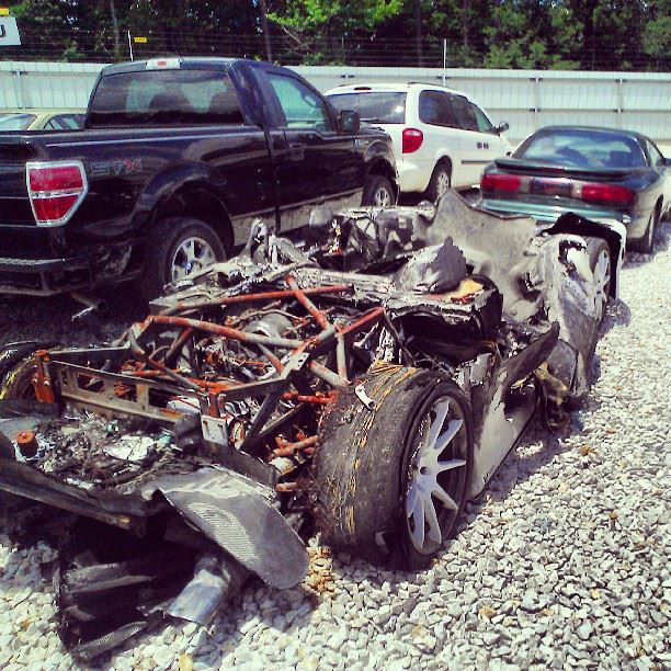 Mosler Mt900 Spotted Wrecked In Salvage Yard