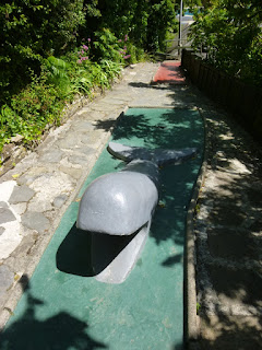 Photo of the Crazy Golf course at Greens Cafe in Padstow