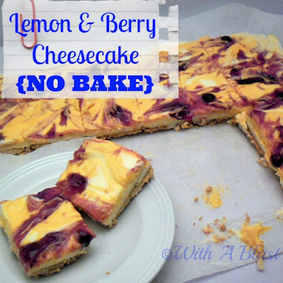 Lemon & Berry Cheesecake {No-Bake}      #nobake #cheesecake #lemon #berries #dessert #sweettreats via:withablast.blogspot.com