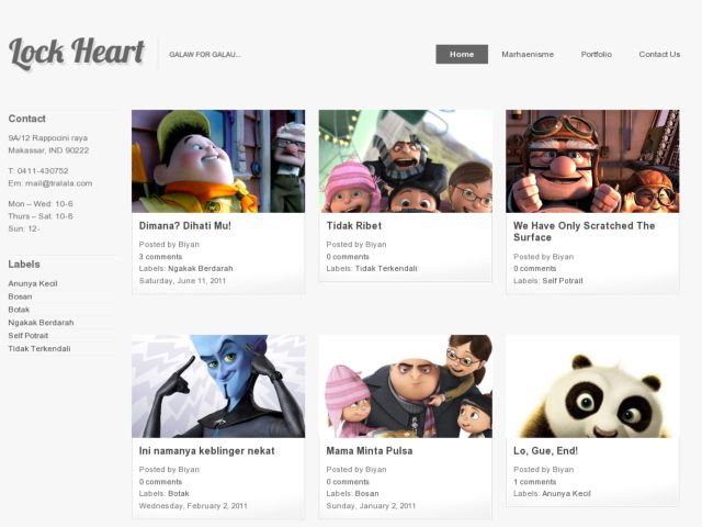 LockHeart Blogger Template
