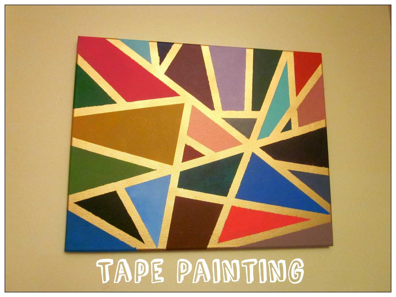 From woo to you diy tape painting for Diy paint