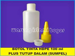 Jual Botol Tinta Kerucut HDPE 100ml