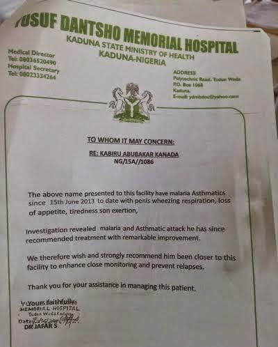 Lol Check Out This Fake Medical Report Presented By A Corper