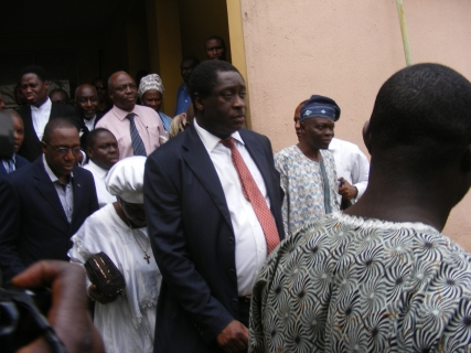 PhotoNews: Mr Wale Babalakin Shows Up In Court With Celestial Church Prayer Warriors (LOOK)- Sahara Reporters