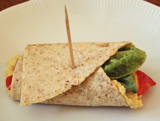 Roll-up Sandwich on Plate