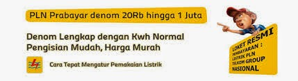 Wali Reload Pulsa, Daftar Harga Token PLN Prabayar Murah