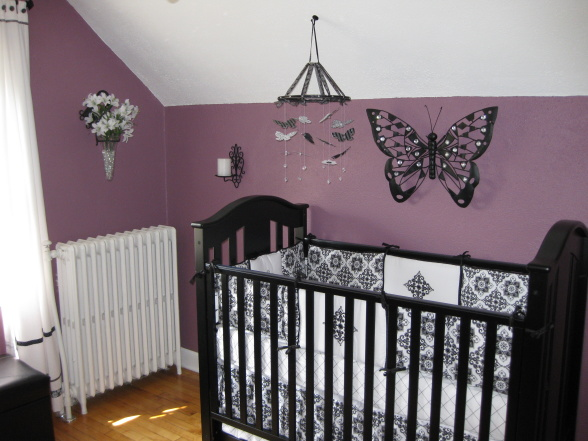 I Knew That Didn T Want Pink For The Walls Always Adorable But Wanted Diffe Decided On This Pretty Deep Plum Color To Keep It Y