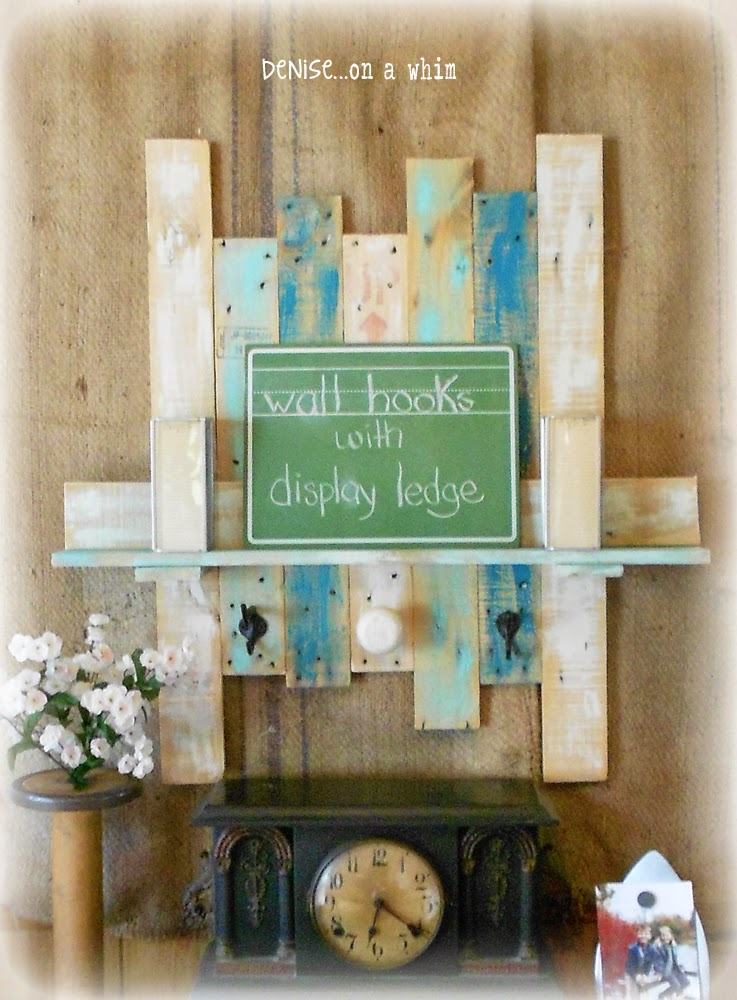 Wall Hook Board with a Display Ledge from Denise on a Whim