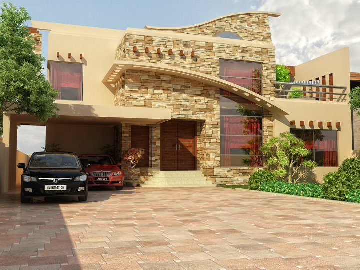 Front elevation of beautiful homedesignpictures for Pakistani homes design