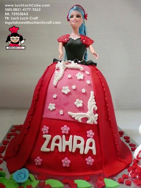 kue tart ulang tahun princess kue barbie