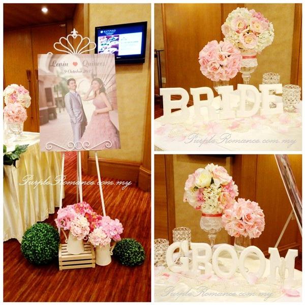 Garden Theme Wedding Decoration At Pullman KLCC Purple