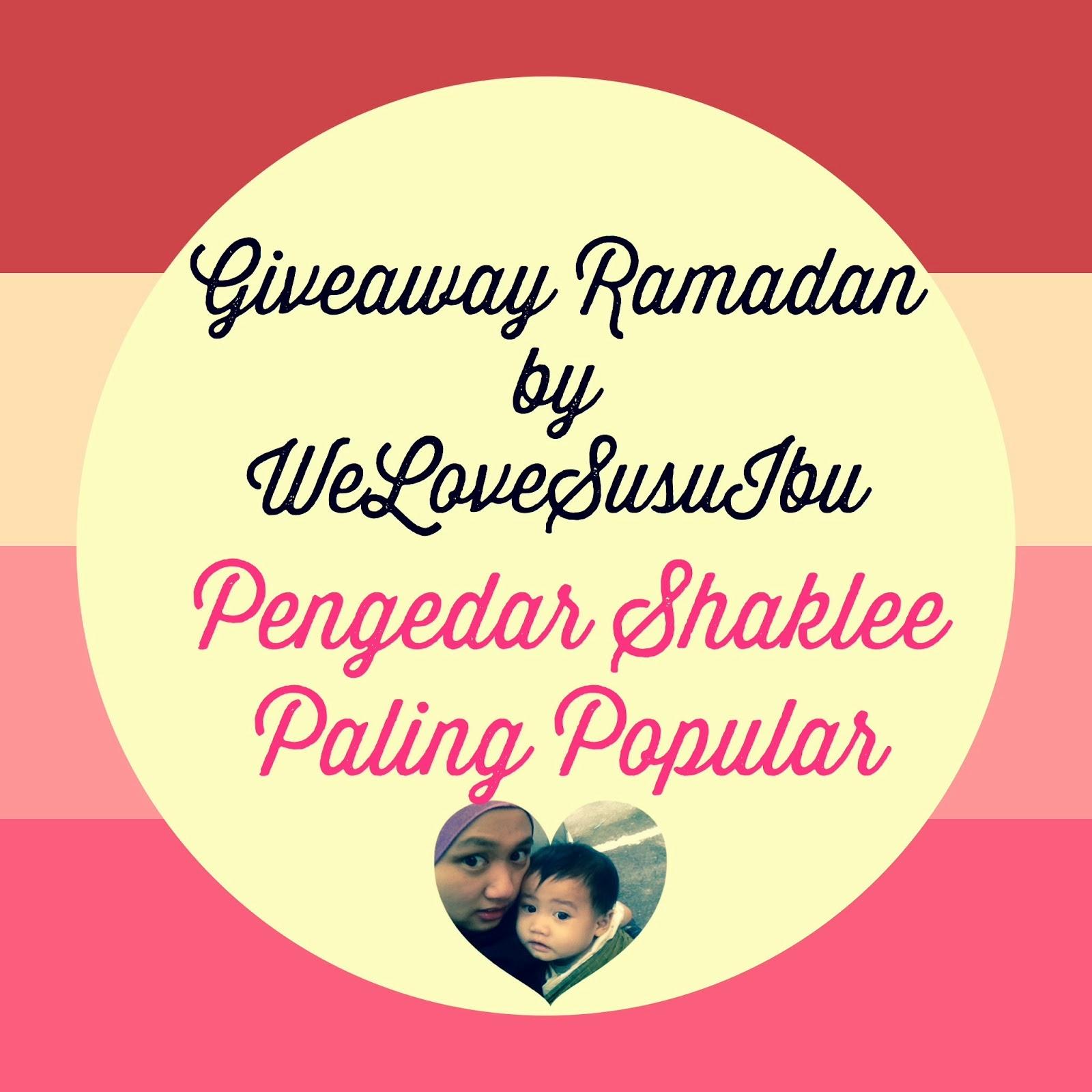 Ramadan Giveaway by WeLoveSusuIbu (Pengedar Shaklee Paling Popular)