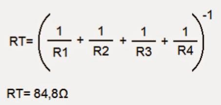 fórmula matemática resistencias paralelo