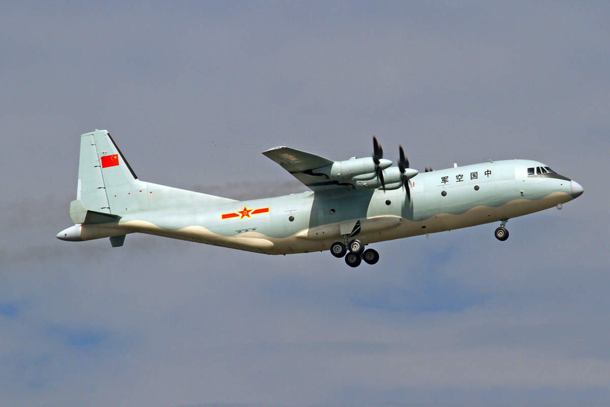Chinese Yun-9 (Y-9) Military Transport Aircraft ...