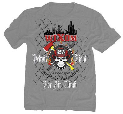 Wixom Firefighter's Detroit Fight for Air Climb Fundraiser T-Shirt!