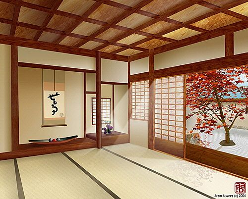 Japanese interior design interior home design for Minimalist traditional house