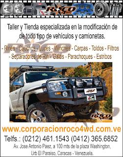 CORPORACION ROCO 4WD C.A. en Paginas Amarillas tu guia Comercial