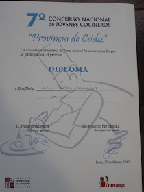CONCURSO NACIONAL  DE JOVENES COCINEROS