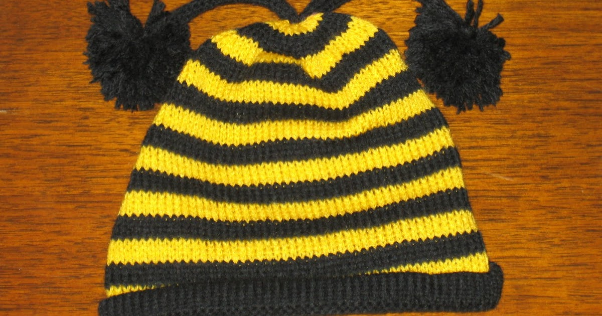 Marzipanknits: Free Machine Knit Pattern for a Baby Bee Hat