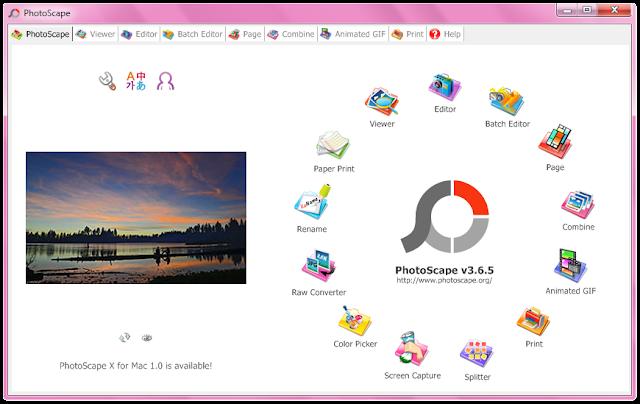 تحميل برنامج فوتوسكيب عربى 2016 مجانا لاضافة التاثيرات على الصور Photoscape