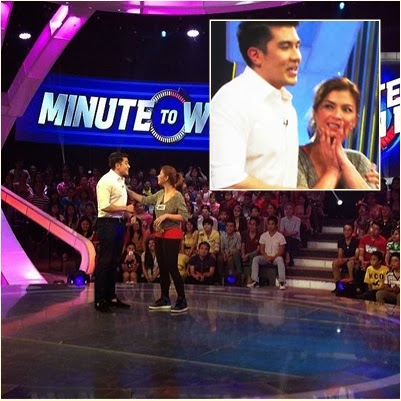 Angel Locsin is guest player on Minute to Win It finale episode