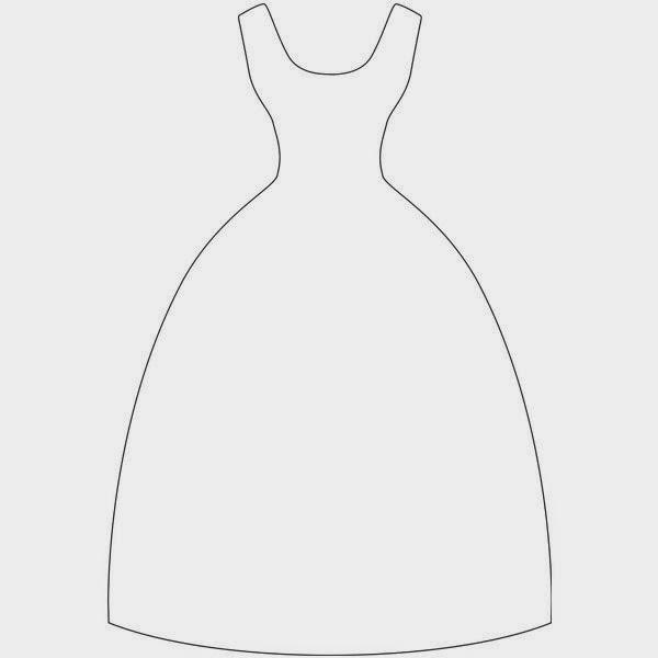 Открытка скрапбукинг платье шаблон 54