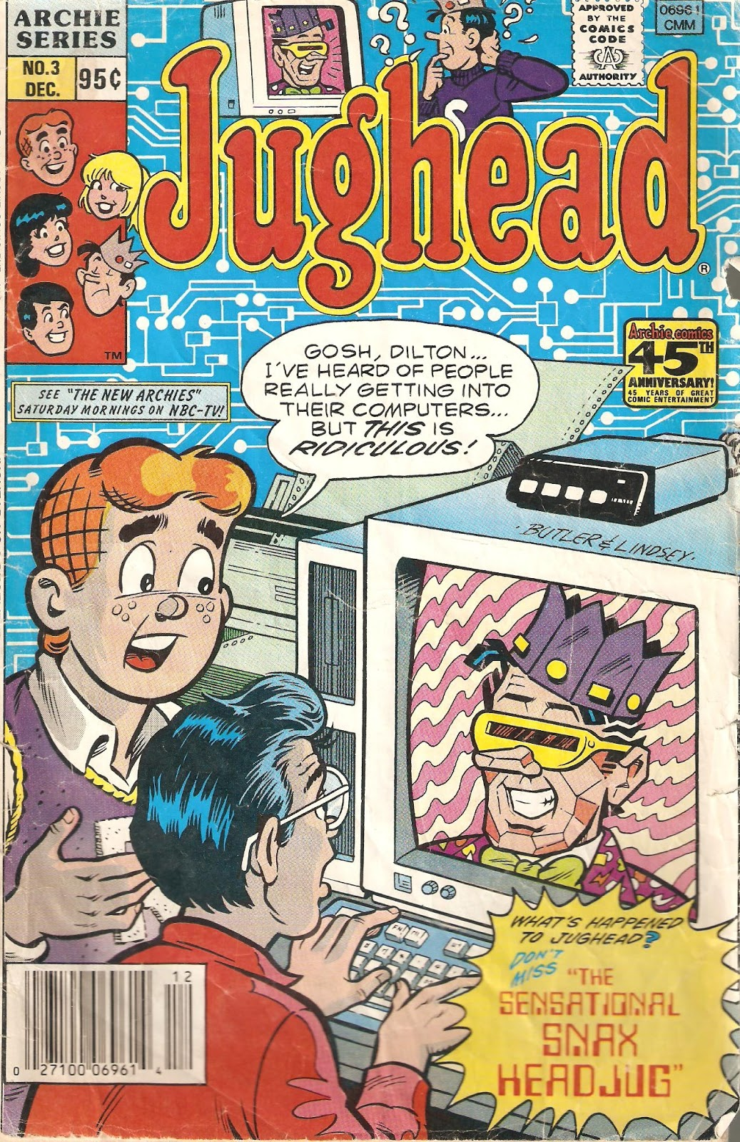 Square One TV Had Fax Headful Doonesbury Ron Headrest And Archie Comics Jug Snaxful
