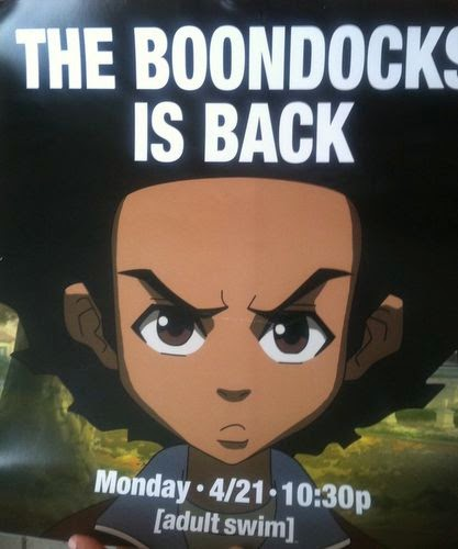 Absurd situation Boondocks and adult swim shame!