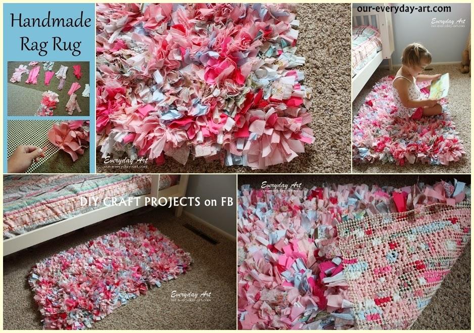 diy handmade rag rug tutorial - diy craft projects