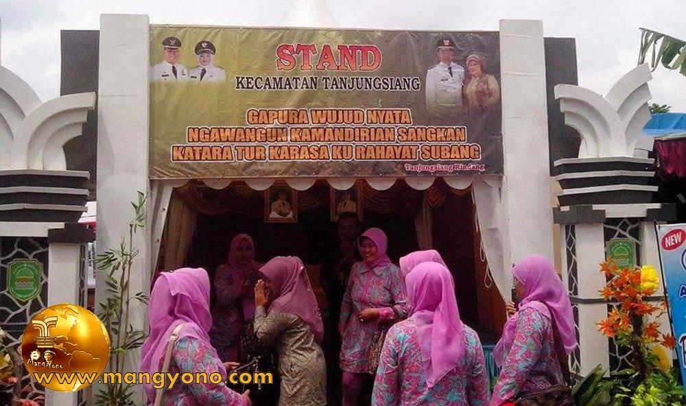 Stand Kec. Tanjungsiang, Pameran Pembangunan 2015.