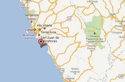 mapa epicentro del temblor en lima hoy 13 febrero 2012