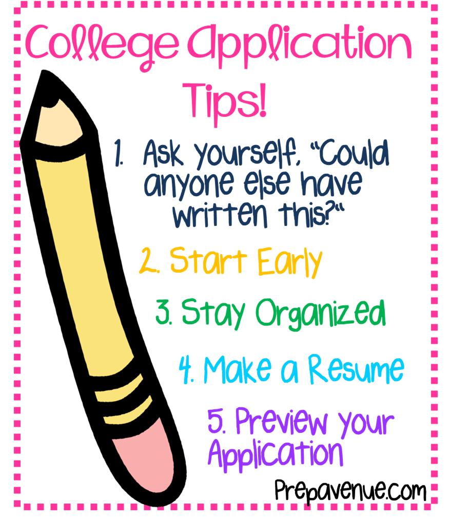 How to write a good college application