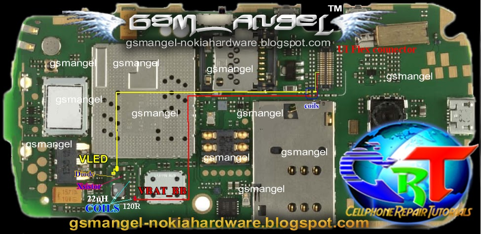 All Gsm Solution Nokia C2 06 Lcd Display Backlight Led Solution