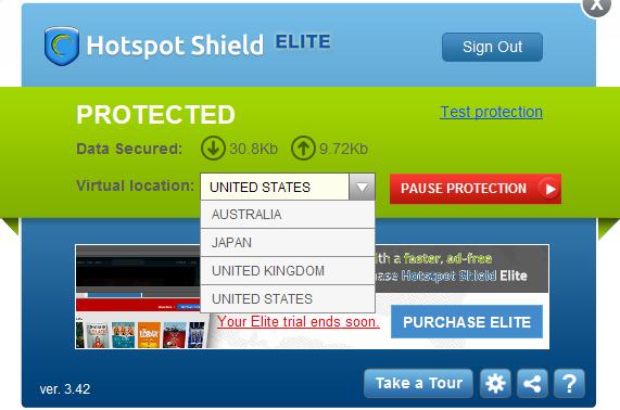 Navegar libre con Hotspot Shield
