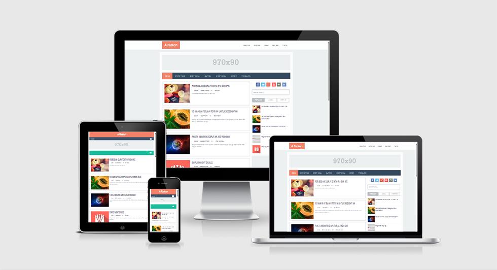 Chia sẻ A Fusion Blogger Template cho trang tin tức