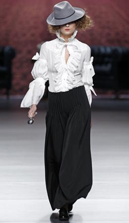 Alma Aguilar camisa blanca mujer otoño invierno 2011 2012