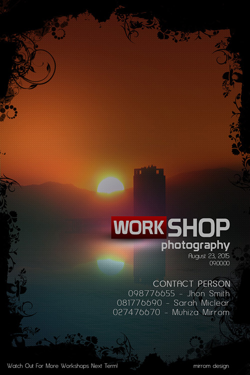 Photoshop Tutorial Poster Photography Workshop