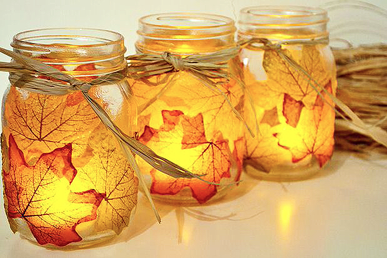 DIY Fall Mason Jar Candles