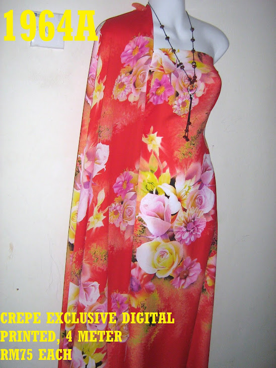 CDP 1964A: CREPE EXCLUSIVE DIGITAL PRINTED, 4 METER