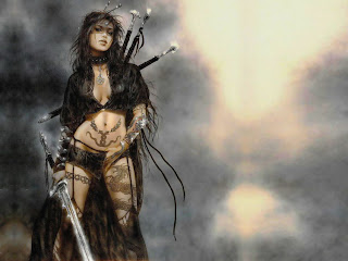 Warrior woman fantasy art