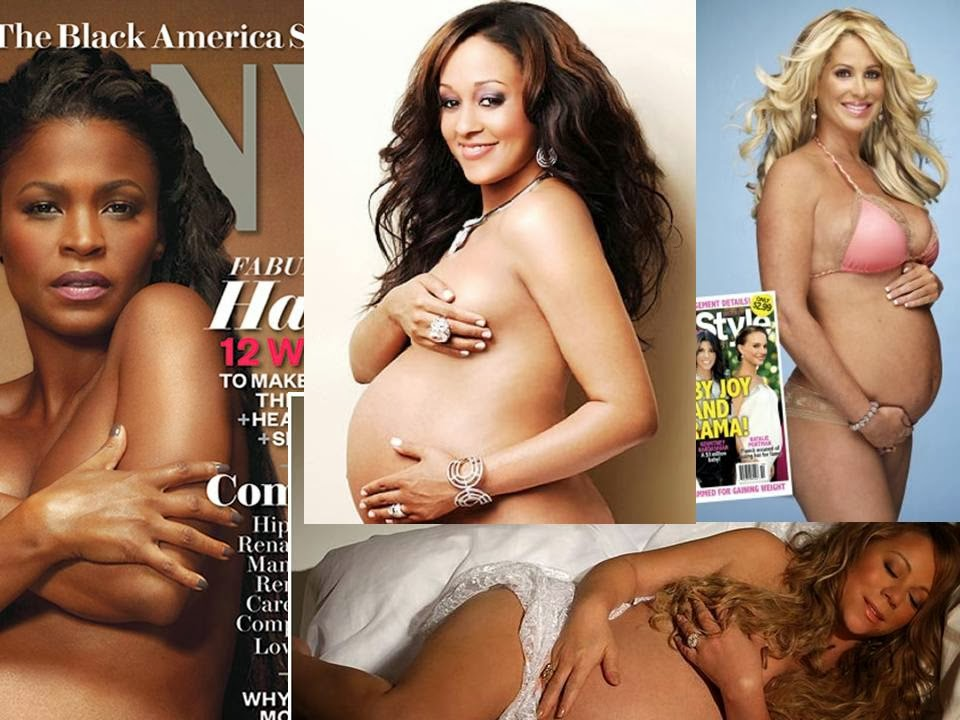 Pregnant celebrity nude logically