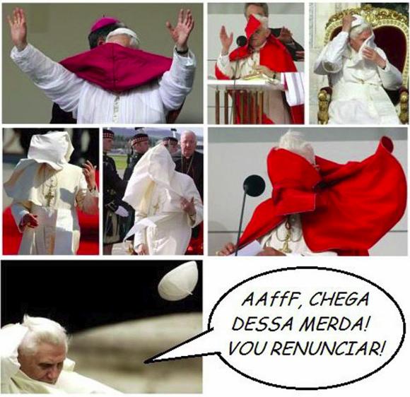 O blog Vida de Meme te explica por imagens A verdadeira causa da renúncia do Papa Bento XVI
