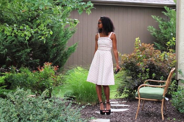 eshakti polka dot summer dress