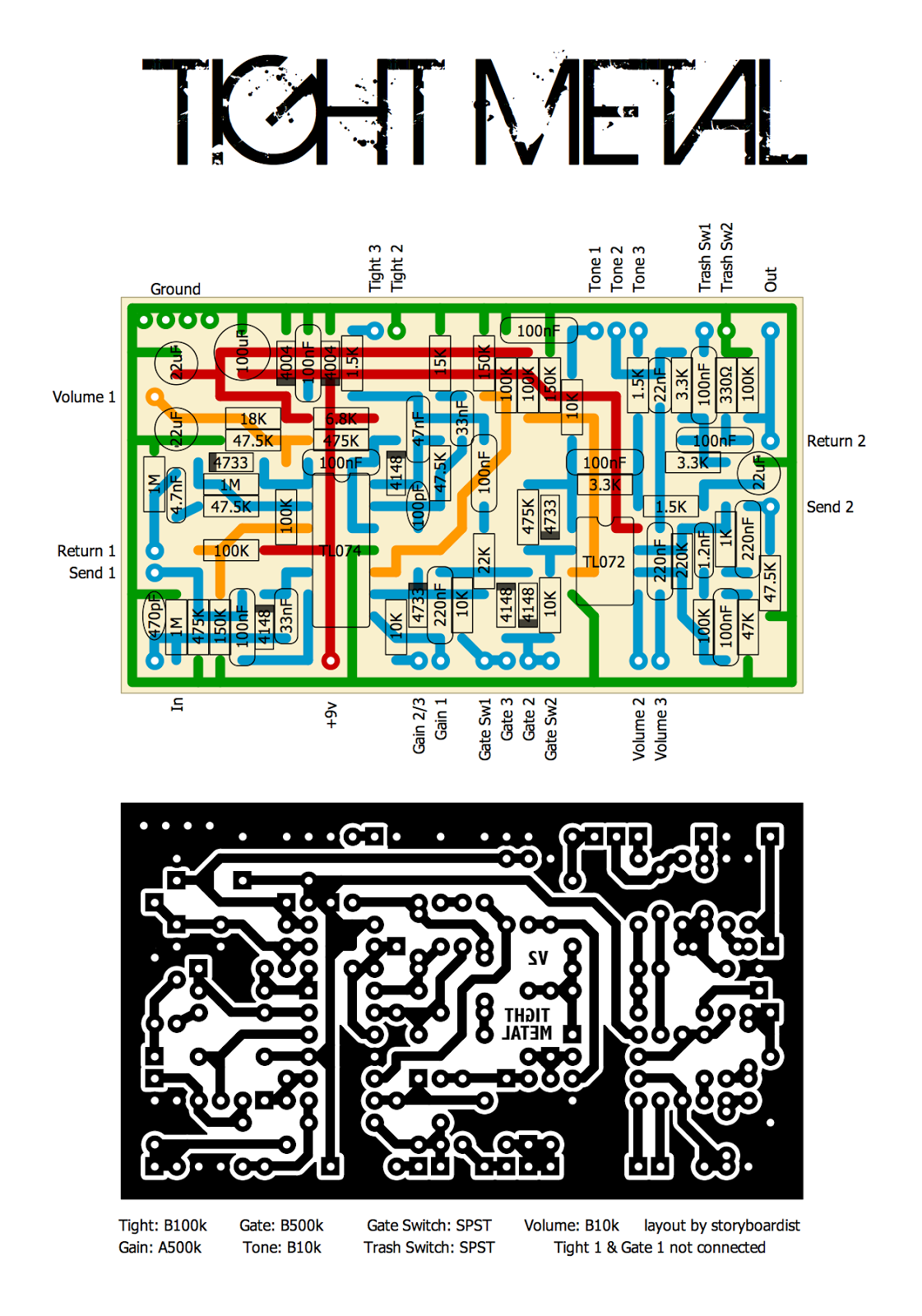 Perf and PCB Effects Layouts: AmpTweaker Tight Metal