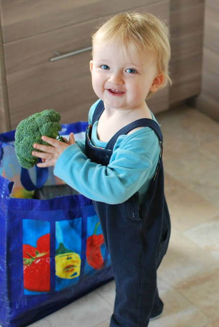 Picture of toddler with broccolli