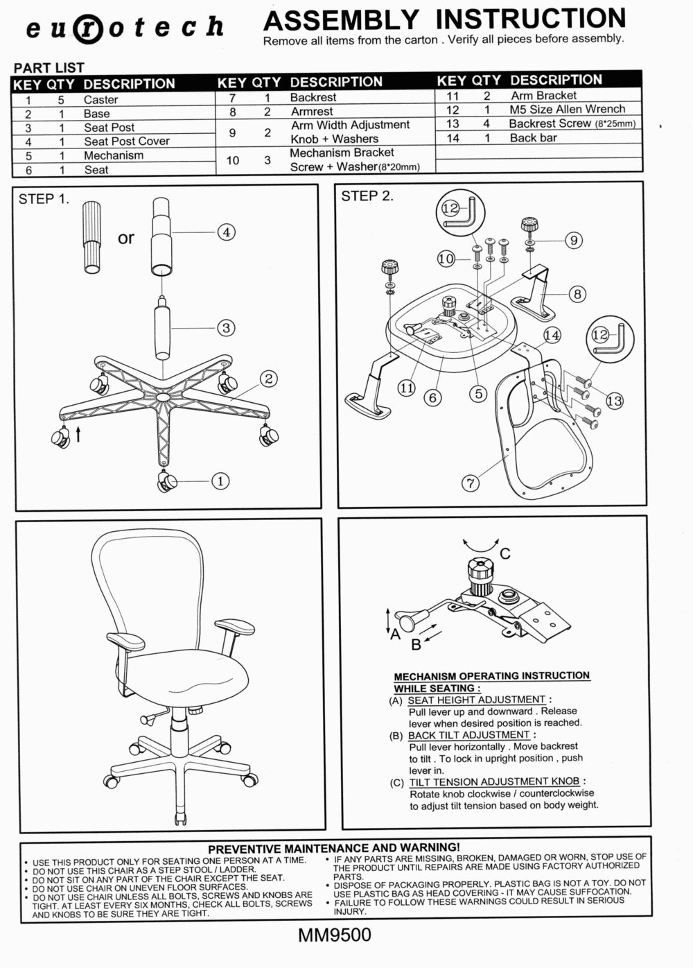 Computer Desk Assembly Instructions Night Day Furniture